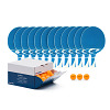 Cornilleau Kit de raquettes de tennis de table « Tacteo 30 Outdoor », Balles orange