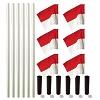 Kit de poteaux de délimitation Sport-Thieme « Allround », Poteau blanc, fanion rouge-blanc
