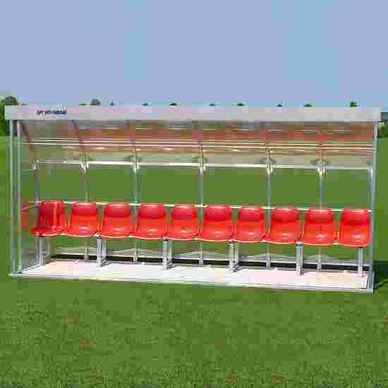 Abri de touche Sport-Thieme pour 10 personnes Banc, Plexiglas