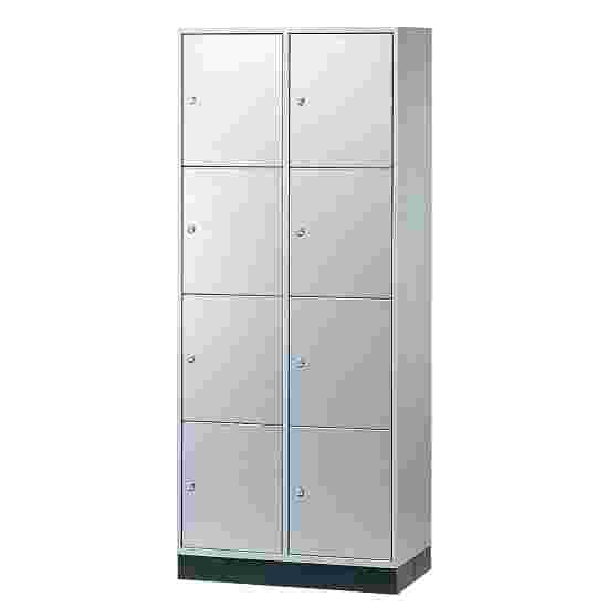 Armoire à casiers « S 4000 Intro » (4 casiers superposés) 195x82x49 cm/ 8 compartiments, Gris clair (RAL 7035)