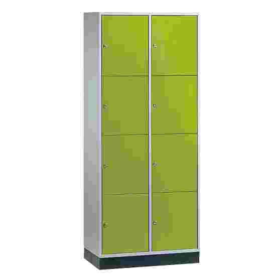 Armoire à casiers « S 4000 Intro » (4 casiers superposés) 195x82x49 cm/ 8 compartiments, Vert viride (RDS 110 80 60)