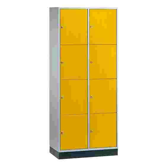 Armoire à casiers « S 4000 Intro » (4 casiers superposés) 195x82x49 cm/ 8 compartiments, Jaune soleil (RDS 080 80 60)