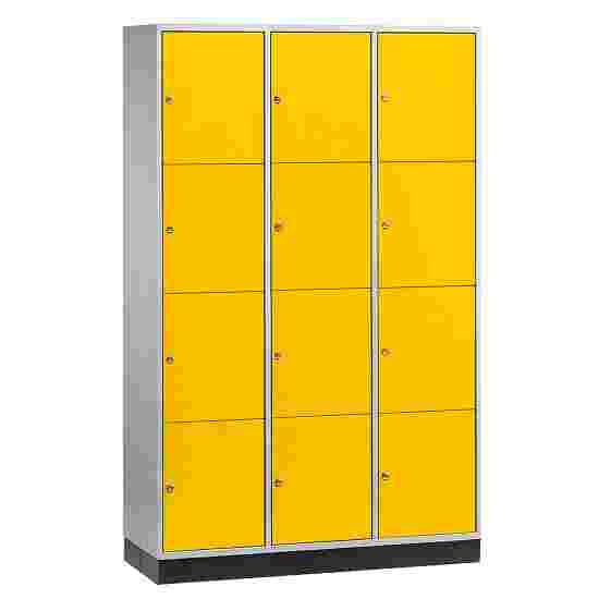 Armoire à casiers « S 4000 Intro » (4 casiers superposés) 195x122x49 cm/ 12 compartiments, Jaune soleil (RDS 080 80 60)
