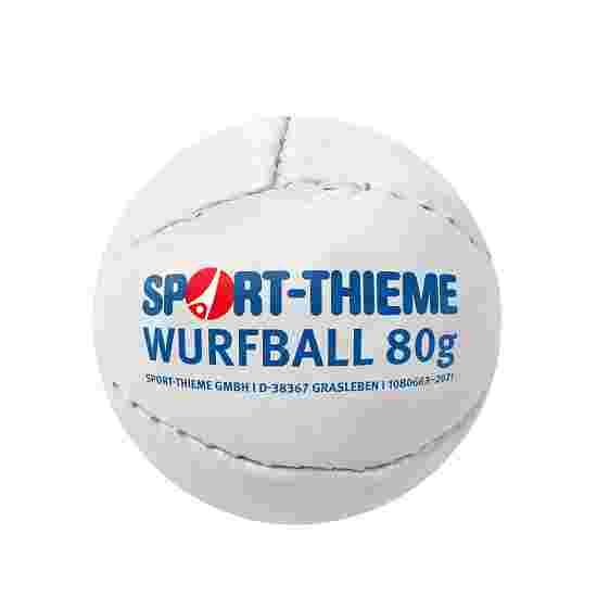 Balle de lancer Sport-Thieme 80 g Blanc