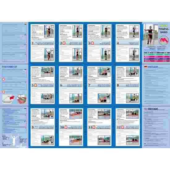 Bande de fitness Sport-Thieme 75 2 m x 7,5 cm, Vert, facile