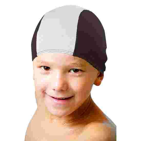 Bonnet de bain en textile Noir-blanc, Enfant