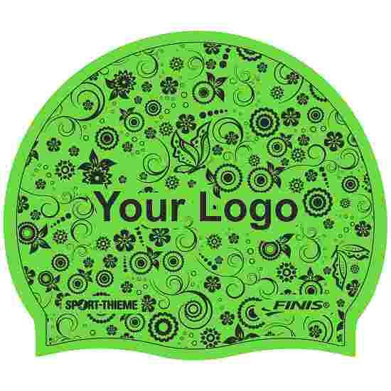 Bonnet de bain imprimé en latex Vert, Recto