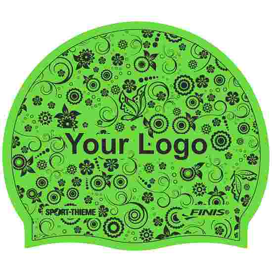 Bonnet de bain imprimé en latex Vert, Recto-verso