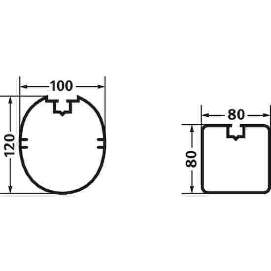 But 3x2 m, profilé ovale
