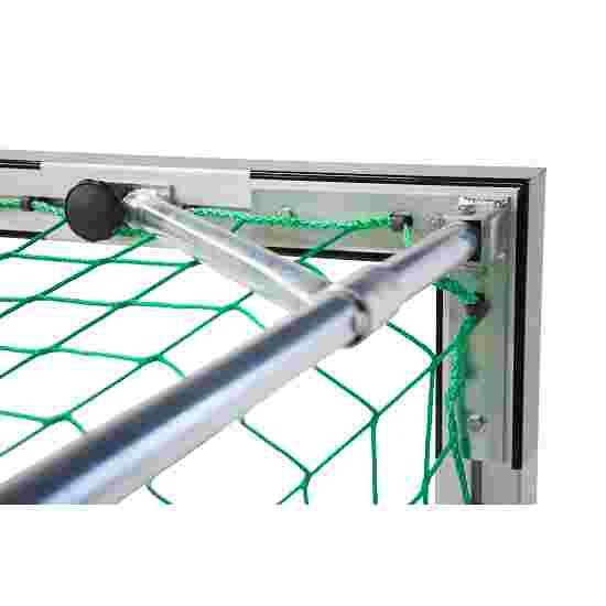 But de handball en salle Sport-Thieme 3x2 m, autostable avec angles d'assemblage en acier Premium Avec supports de filet rabattables, Noir-argent
