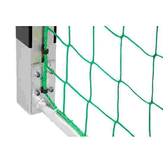 But de handball en salle Sport-Thieme 3x2 m, autostable avec angles d'assemblage en acier Premium Avec supports de filet fixes, Noir-argent