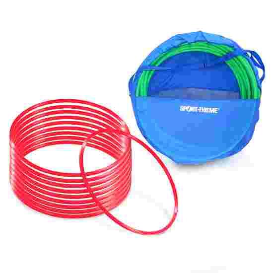 Cerceaux de gymnastique Sport-Thieme par lot avec sac de rangement « ø 50 cm » Rouge