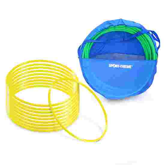 Cerceaux de gymnastique Sport-Thieme par lot avec sac de rangement « ø 70 cm » Jaune