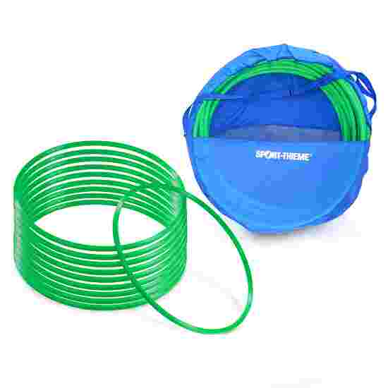 Cerceaux de gymnastique Sport-Thieme par lot avec sac de rangement « ø 70 cm » Vert