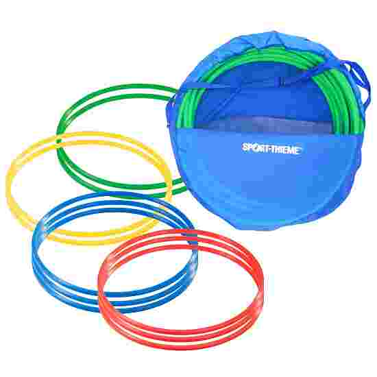 Cerceaux de gymnastique Sport-Thieme par lot avec sac de rangement « ø 70 cm » Multicolore