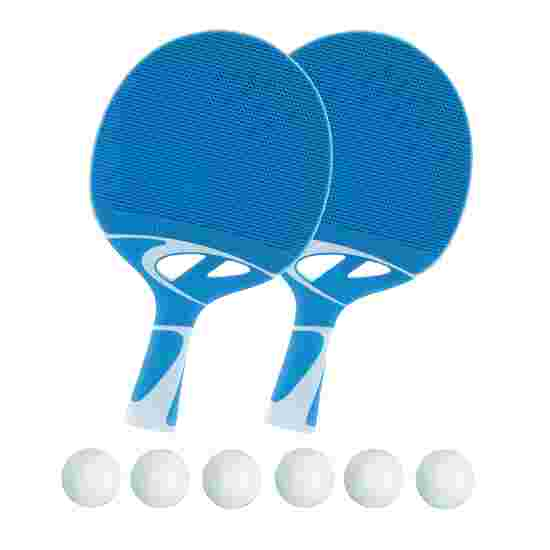 Cornilleau Lot de raquettes de tennis de table « Tacteo 30 » Balles blanches