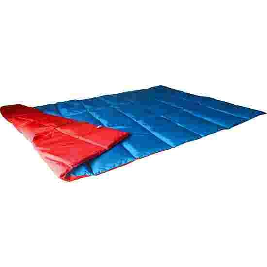 Couverture lourde/lestée Enste 198x126 cm / Bleu-Rouge, Enveloppe extérieure Suratec