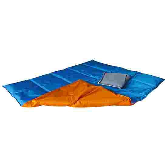 Couverture lourde/lestée Enste 90x72 cm / Orange-Bleu, Enveloppe extérieure Suratec