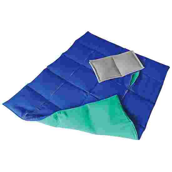Couverture lourde/lestée Enste 90x72 cm / Vert-Bleu, Enveloppe extérieure coton