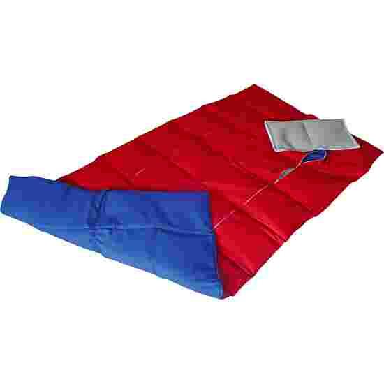 Couverture lourde/lestée Enste 144x72 cm / Bleu-Rouge, Enveloppe extérieure coton
