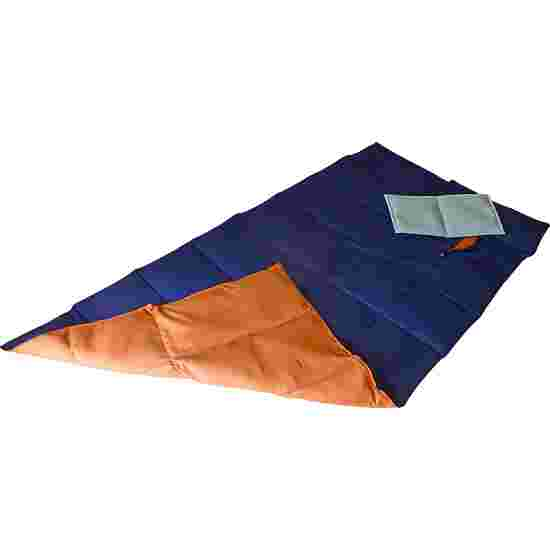 Couverture lourde/lestée Enste 180x90 cm / Bleu foncé-terre cuite, Enveloppe extérieure coton