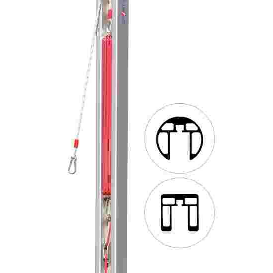 Dispositif de tension par poulie pour poteaux 80x80 mm et ø 83 mm Pour poteaux standards