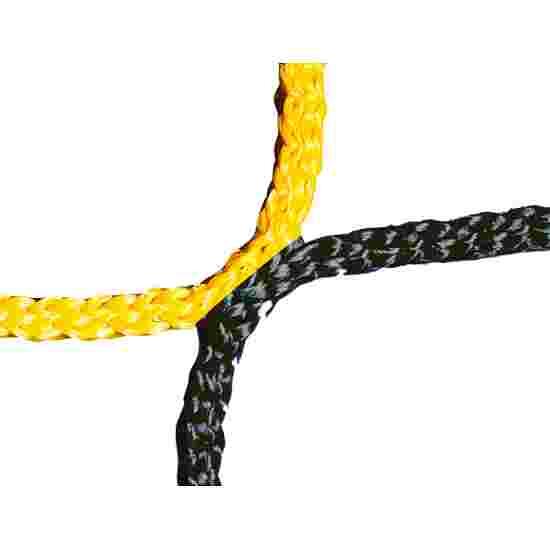 Filet sans nœuds pour but de football adulte Noir-jaune