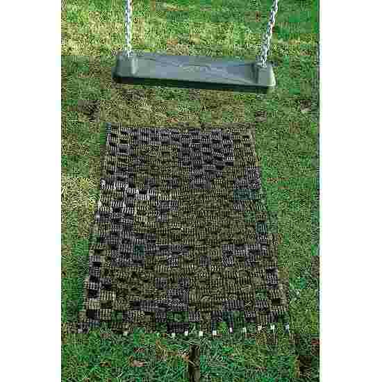 Grasbeschermingsmat voor schommels.