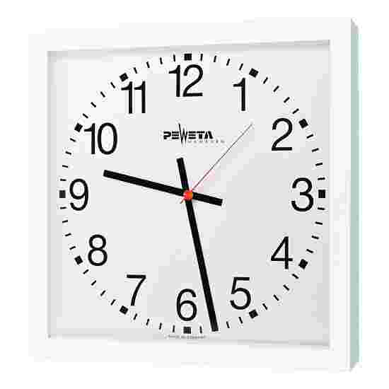 Horloge murale Peweta 40x40 cm, sur secteur Standard, Cadran avec chiffres arabes