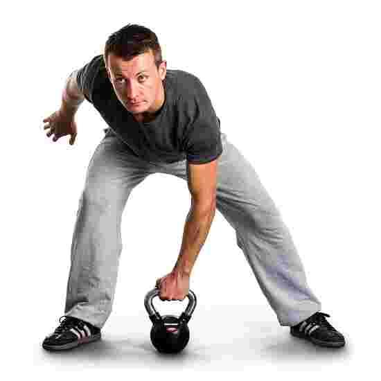 Kettlebell Sport-Thieme caoutchoutée avec poignée chrome 4 kg