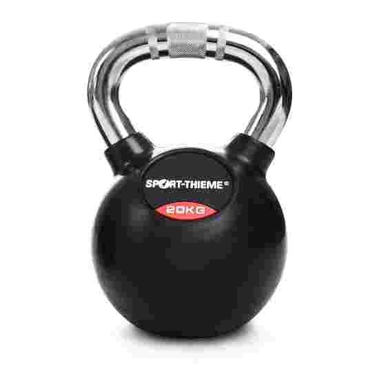 Kettlebell Sport-Thieme caoutchoutée avec poignée chrome 20 kg