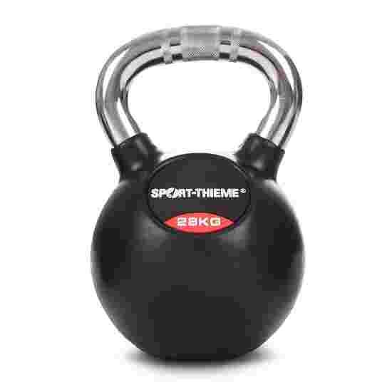 Kettlebell Sport-Thieme caoutchoutée avec poignée chrome 28 kg