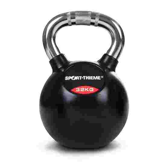 Kettlebell Sport-Thieme caoutchoutée avec poignée chrome 32 kg