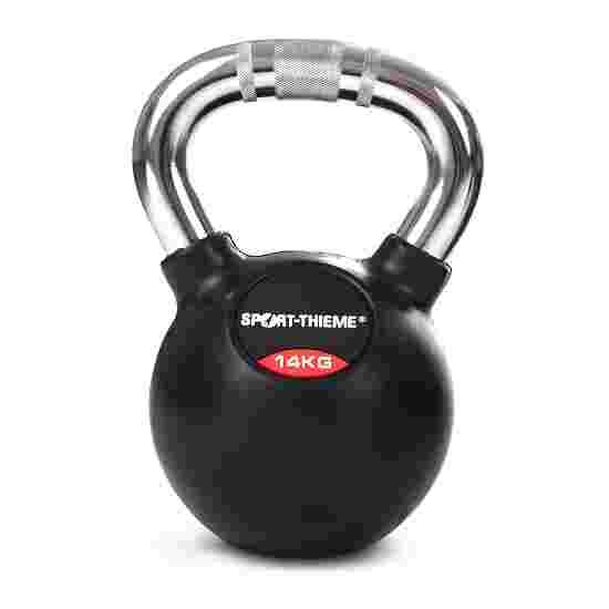 Kettlebell Sport-Thieme caoutchoutée avec poignée chrome 14 kg