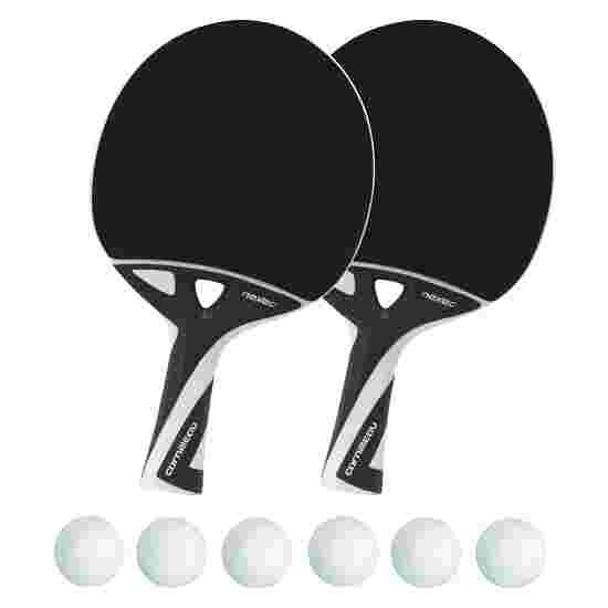 Kit de raquettes de tennis de table « nexeo X70 » Balles blanches