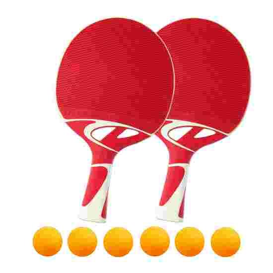 Kit de raquettes de tennis de table « Tacteo 50 » Balles orange