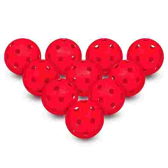 Lot de 10 balles d'unihockey Rouge