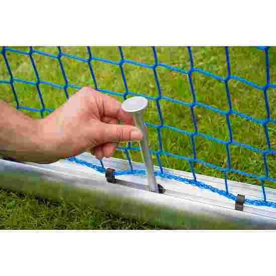 Mini but d'entraînement en alu Sport-Thieme « Safety » 1,20x0,80 m, profondeur 0,70 m, Filet inclus, vert (mailles 10 cm)