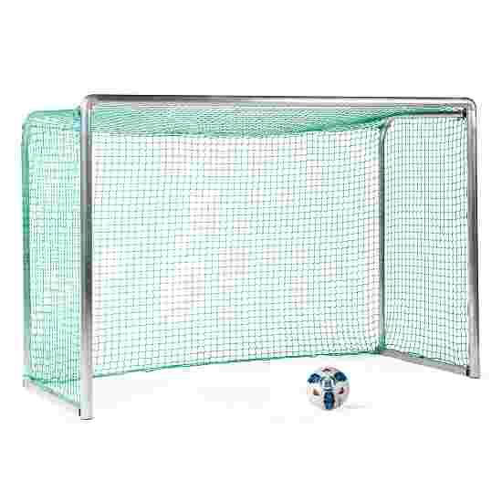 Mini but d'entraînement en alu Sport-Thieme « Safety » 2,40x1,60 m, profondeur 1,00 m, Filet inclus, vert (mailles 4,5 cm)