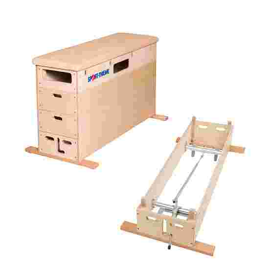 Plinth Sport-Thieme « Multiplex » 4 caissons Avec dispositif de transport sur roulettes, Cuir
