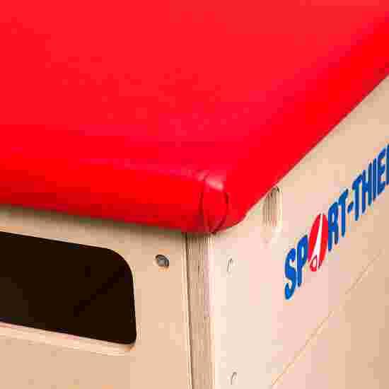 Plinth Sport-Thieme « Multiplex » 4 caissons Sans dispositif de transport sur roulettes, Simili cuir, rouge