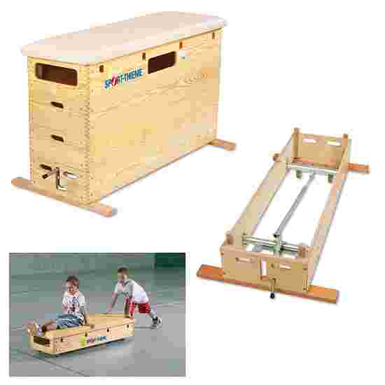 Plinth Sport-Thieme « Original » 4 caissons Avec dispositif de transport & couvercle à roulettes