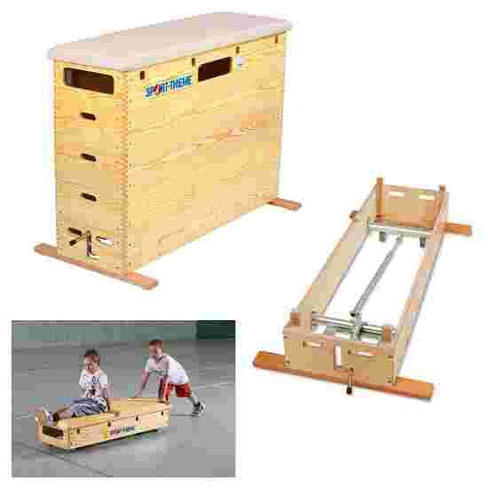 Plinth Sport-Thieme « Original » 5 caissons Avec dispositif de transport & couvercle à roulettes