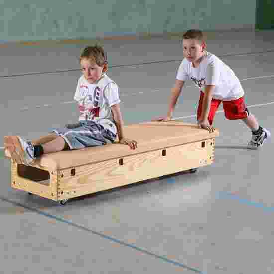 Plinth Sport-Thieme « Original » 6 caissons Avec dispositif de transport & couvercle à roulettes