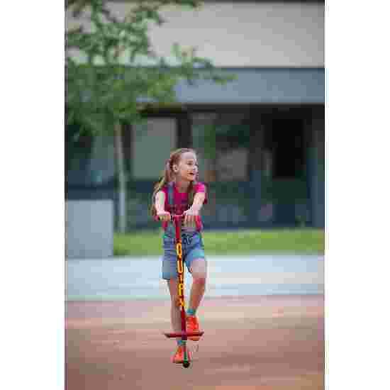 Qu-Ax Bâton sauteur Pogo-Stick Rouge, L : 98 cm, jusqu'à 30 kg