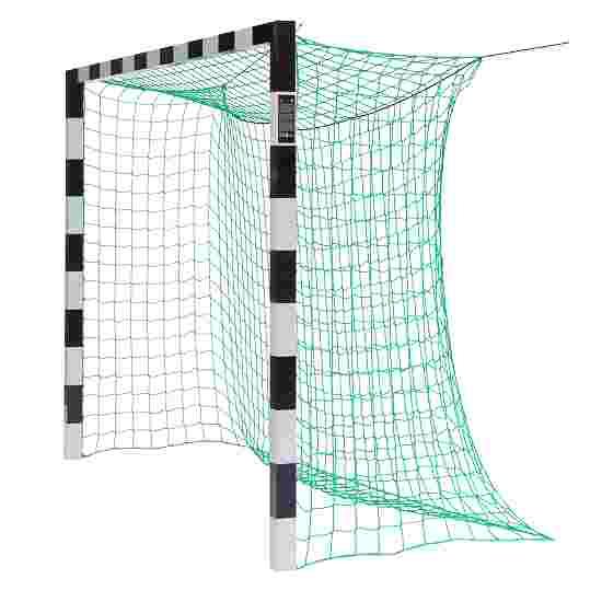Sport-Thieme But de foot en salle 3x2 m, avec fixation par fourreaux et angles d'assemblage en acier Premium Sans supports de filet, Noir-argent