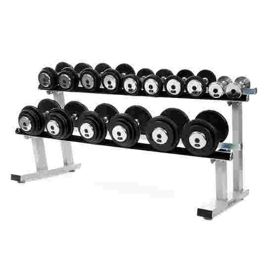 Sport-Thieme Lot d'haltères compacts 2,5-22,5 kg, avec support d'haltères double