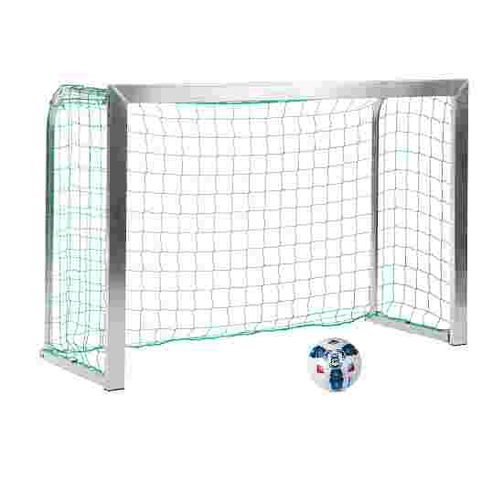 Sport-Thieme Mini but d'entraînement avec supports de filet pliables 1,80x1,20 m, profondeur 0,70 m, Filet inclus, vert (mailles 10 cm)