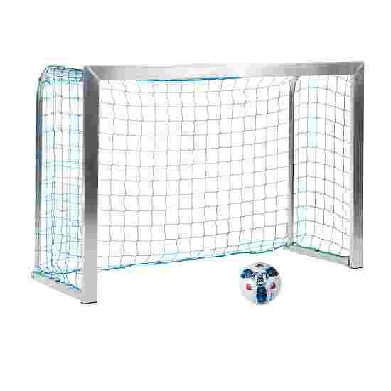 Sport-Thieme Mini but d'entraînement avec supports de filet pliables 1,80x1,20 m, profondeur 0,70 m, Filet inclus, bleu (mailles 10 cm)