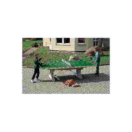 Sport-Thieme Table de tennis de table en béton polymère « Premium » Pieds courts, autostable, Vert